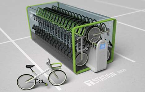 Close-Packed Bicycle Storage - T-Bike by Jung Tak Proposes an Efficient System for Renting Pushbikes