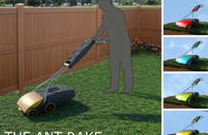 Collapsible Grass Groomers - The Ant Rake Lawnmower Embodies a Convenient Compact Shape