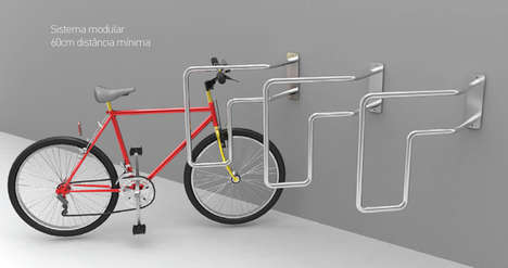 Slanted Bicycle Storage