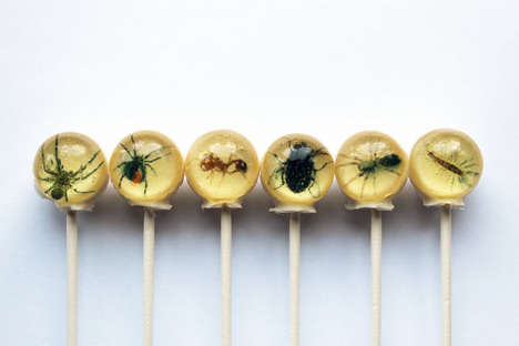 Creepy Crawly Candies - These Insect Lollipops Will Scare Your Guests