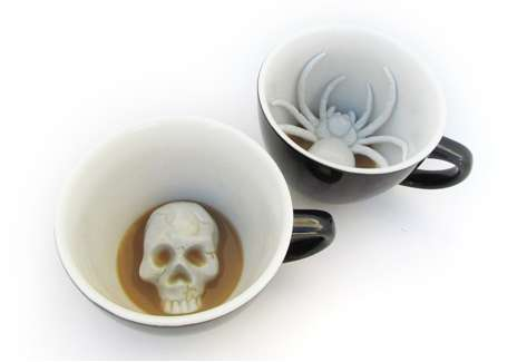 The Creepy Cups Will Serve Up Your Morning Coffee in a Spooky Way