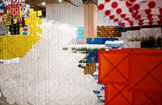 Kaleidoscopic Kite Installations