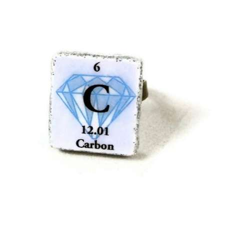 Chemistry-Covered Jewelry - The Diamond Carbon Bling Ring is for Science Fanatics
