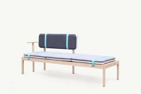 Bare-Boned Day Beds - Watching the Ships Roll In by Marie Dessuant Has Romantic Undertones
