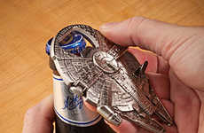 Spacecraft Bottle Openers - The Millennium Falcon Bottle Opener Presents Intergalactic Fun