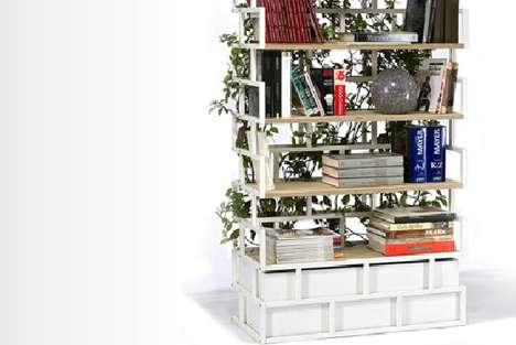 Elaborate Botanical Bookcases