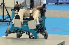 Stair-Climbing Accessible Seating - The Chiba Tech Robotic Wheelchair Can Traverse Uneven Surfaces