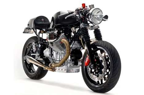 The Moto Guzzi V1100 Custom Motorcycle Uses Only the Finest Parts