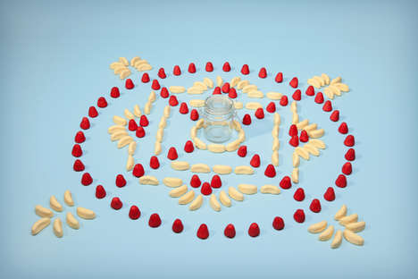 Spiritual Junk Food Art - My Body is a Temple Uses Mandalas Made Out of Unhealthy Comestibles