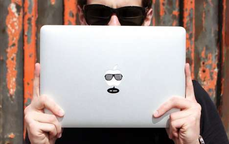 Hipster Laptop Stickers