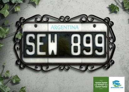 Licence Plate Address Plaques