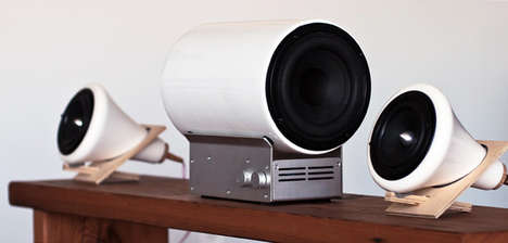 Cylindrical Porcelain Speakers
