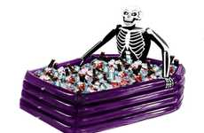Sinister Drink Coolers - The Inflatable Skeleton Cooler is the Perfect Item for Halloween