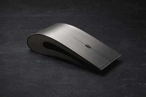 Sleek Metallic Luxury Mice - The Intelligent Design Titanium Mouse Mixes Modern Design and Function