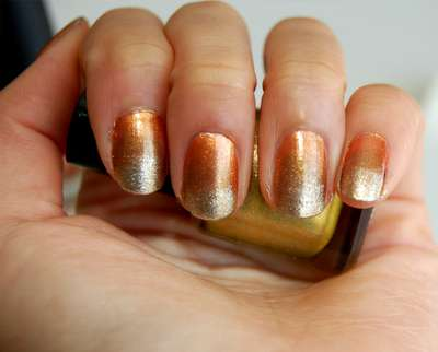 DIY Metallic-Fading Manicures
