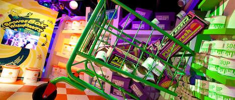 Chromatic Cartoonish Pop-Up Shops