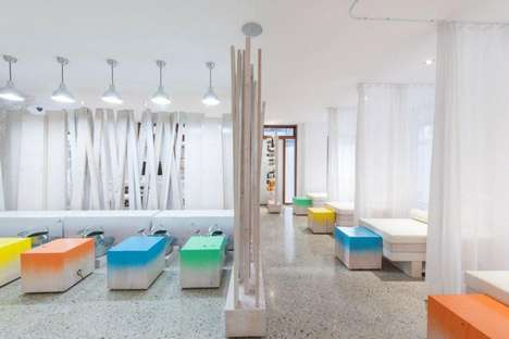Spring Foot Spa Offers Relaxed Vibes with White Walls & Bright Chairs