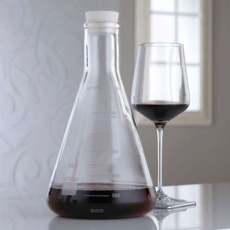 Drinking Becomes Intellectual with the Erlenmeyer Flask Lab Decanter