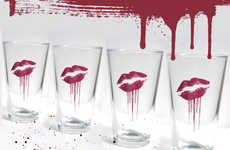 Undead Smooched Pint Glasses - The Zombie Love Glass Markets Towards Living Dead Lovers