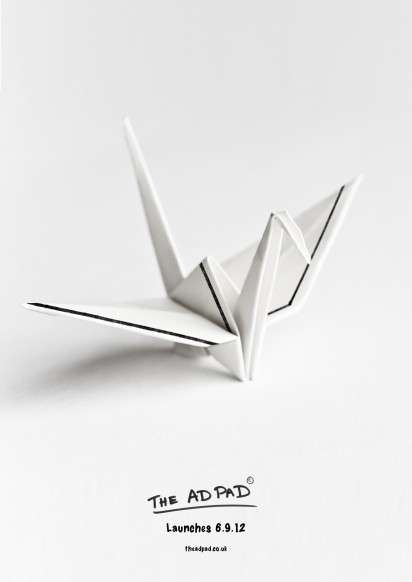 Origami Sketch Paper Ads