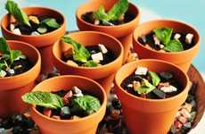 Rich Cocoa Planter Desserts - Enjoy Gardening With the Potted Espresso & Salted Caramel Mud Cakes