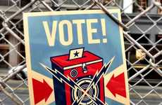 Election-Fueled Snail Mail - The Shepard Fairey Vote Postcard is a Free Politically Inspired Memo