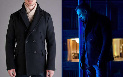 Action Packed Jackets - The Billy Reid 'Bond Peacoat' is an Adaptation of the Films' Apparel