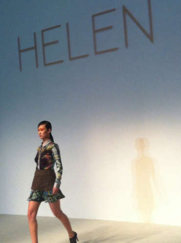 Helen Lee's Autumn/Winter 2012 Collection is Based on Her Hometown