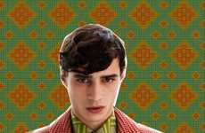 Wild Wallpaper Lookbooks - The Jonathan Saunders Autumn/Winter Catalogue is 70s-Inspired