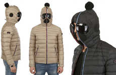 Bug-Eyed Winter Jackets - The Matt Nylon Hooded Down Jacket Provides Great Insulation for Winter