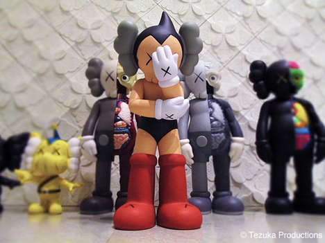 Street Artist Painted Toys - The KAWS Astro Boy Figure Will Be Released at Original Fake