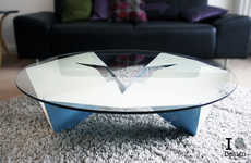 Butterfly-Like Furniture - The Coffee Table by Rlos Design Has an Origami Aesthetic