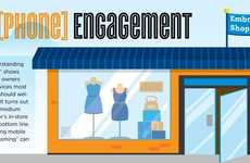 Comparative Shopping Stats - The Smartphone Engagement Infographic Encourages Mobile Involvement