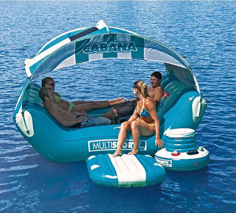 Floating Party Porches - Chill on the Water with the Cabana Islander Lounge