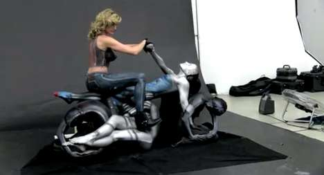 Bodacious Body Paintings - See How the Human Motorcycle was Created by Trina Merry