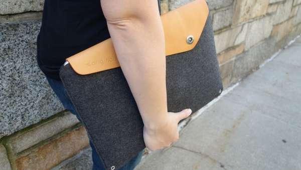 best website 6236d ed9be Minimalist Wool Laptop Covers : Mujjo Macbook Pro Retina 15 Sleeve