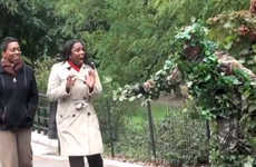 Costumed Central Park Pranks - Ed Bassmaster Scares Strangers in New York Dressed as Bush Man