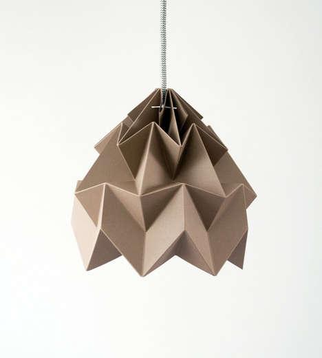 Minimalist Origami Lighting