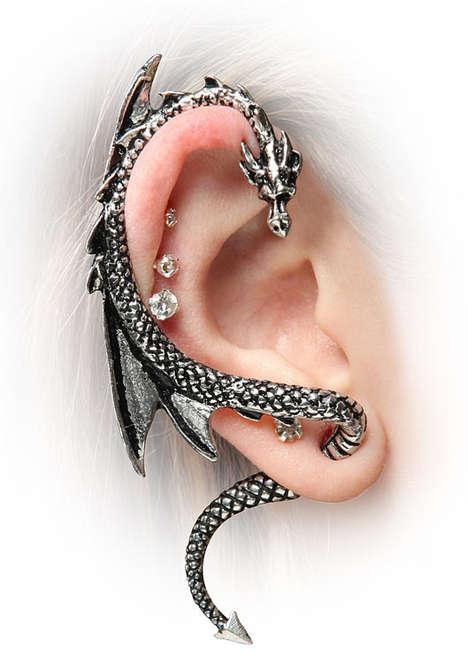 Scaly Bestial Coil Earrings