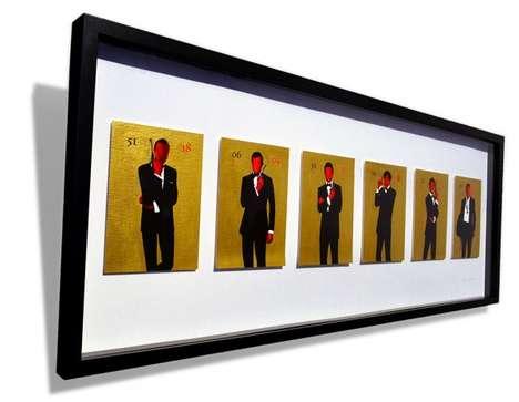 Faceless James Bond Paintings (UPDATE)