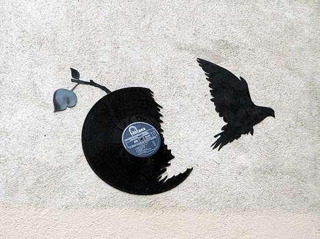 Avian Record Graffiti Art