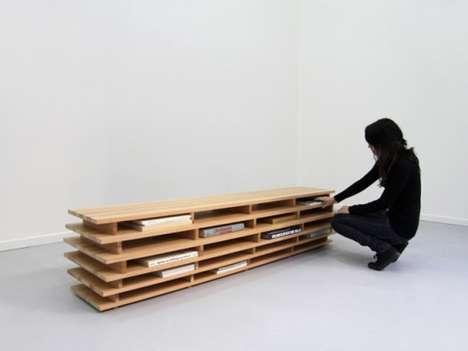 Horizontal Book Benches