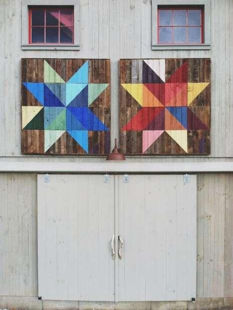 Rainbow Graffitied Barns