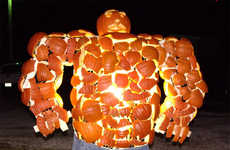 Super Heroic Pumpkin Sculptures