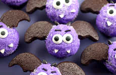 Dazzling Nocturnal Cakes - Improve Your Haunting Holiday with These Itty-Bitty Bat Cupcakes