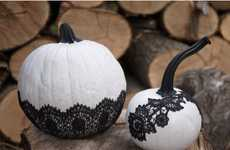 Fashionable Gourd Tutorials - The DIY Lace Pumpkins Will be the Most Chic Designs on the Block