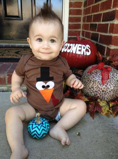 Holiday Bird Onesies - The Turkey Pilgrim Thanksgiving Day Outfit is a Fun Way to Celebrate