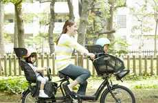 Hi-Tech Mom-Geared Bikes - The Angelino Petite Assista by Bridgestone Has Adjustable Safety Seats