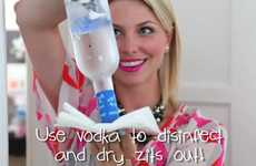 Boozy Skin Cleansers - The 'Cure Pimples with Vodka & Ice' Clip is Alcoholic