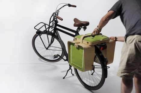 Bike-Ready Dining Panniers - The Springtime Picnic Basket is Perfect for Cycling Enthusiasts